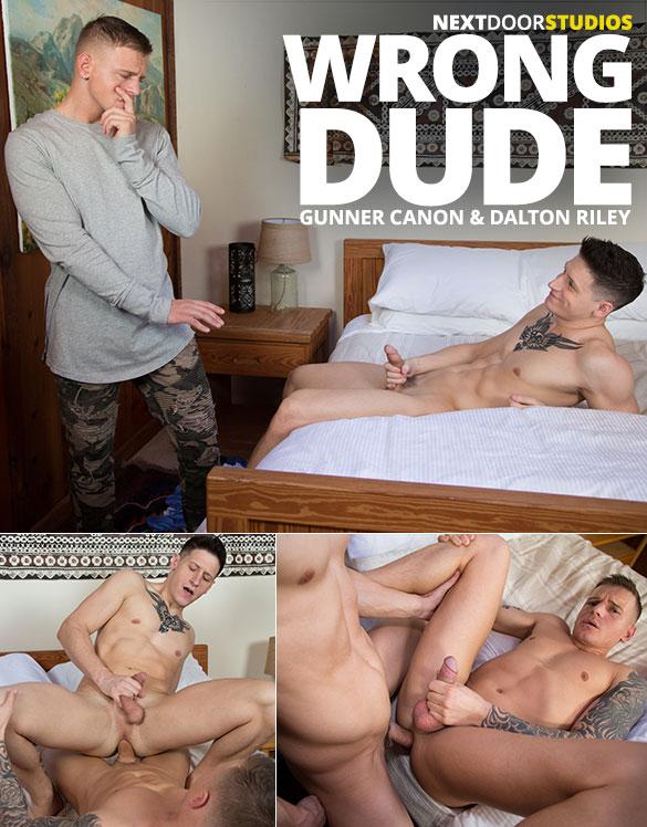 "Next Door Studios: Dalton Riley and Gunner Canon flip fuck raw in ""Wrong Dude"""