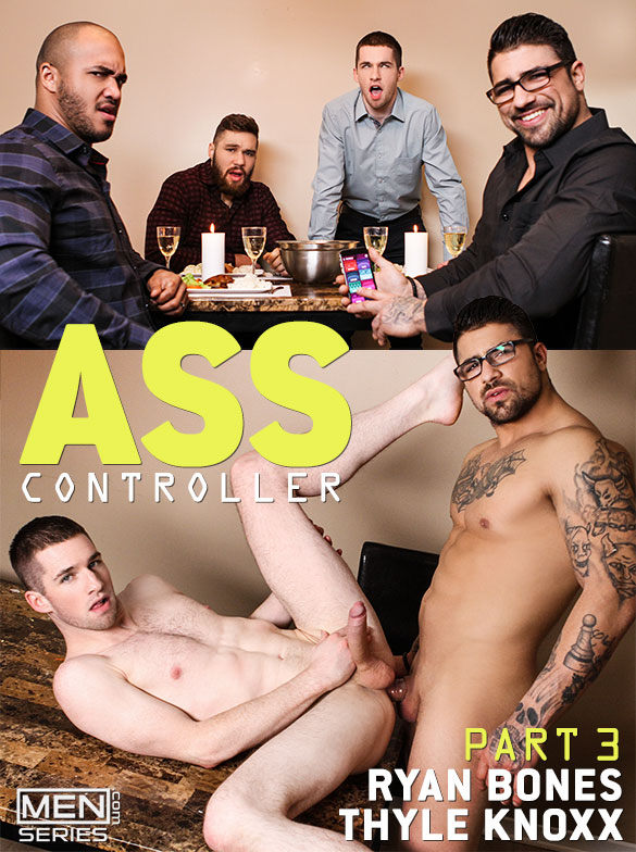 "Men.com: Thyle Knoxx rides Ryan Bones' thick cock in ""Ass Controller, Part 3"""