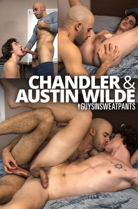 GuysInSweatpants: Austin Wilde creams newbie Chandler's tight ass