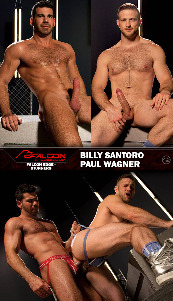 "Falcon Studios: Billy Santoro and Paul Wagner fuck each other in ""Stunners"""