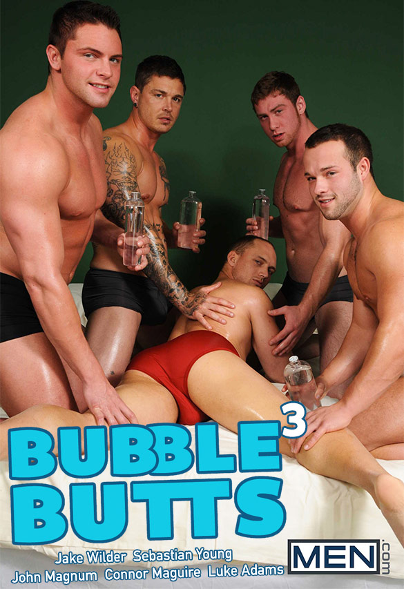 "Men.com: John Magnum and Jake Wilder get fucked by Connor Maguire, Luke Adams and Sebastian Young in ""Bubble Butts, Part 3"""