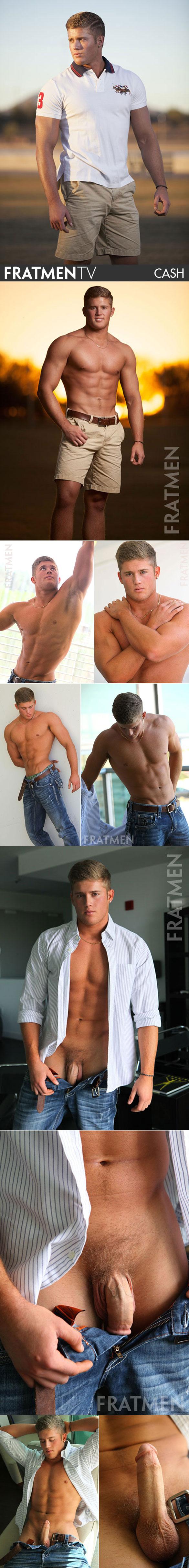Fratmen.tv: Muscle jock Cash busts a nut