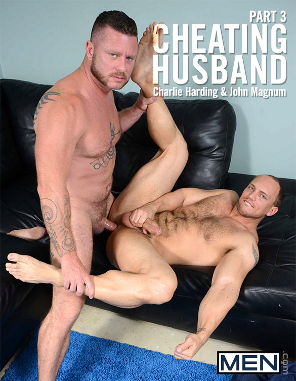 "Men.com: Charlie Harding fucks John Magnum in ""Cheating Husband, Part 3"""