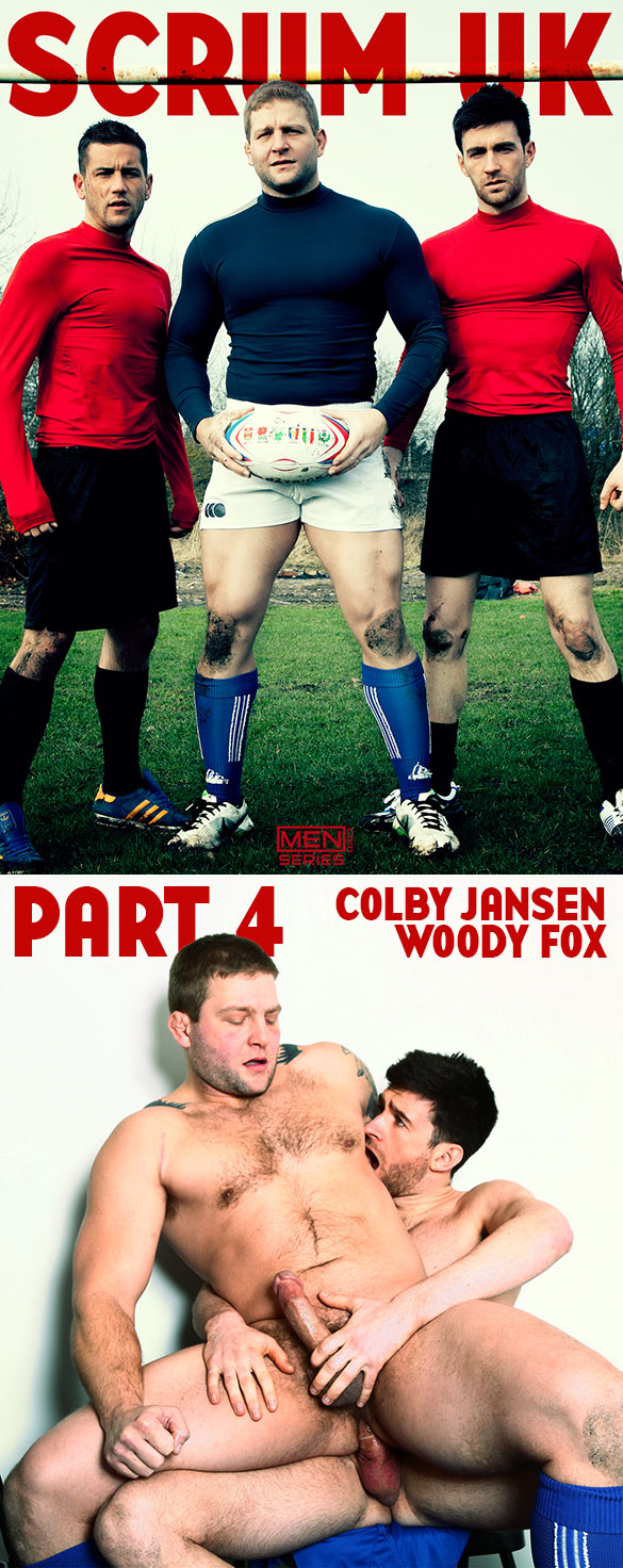 "Men.com: Colby Jansen bottoms for Woody Fox in ""Scrum, Part 4"""