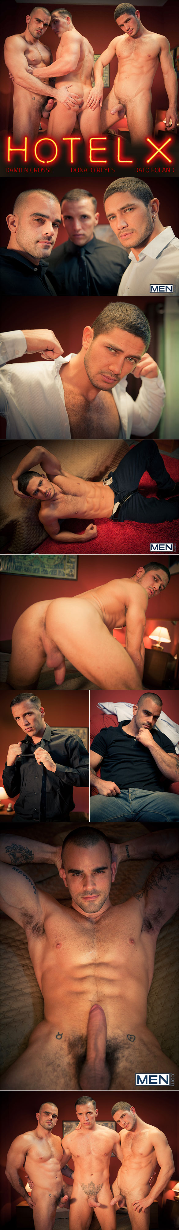 "Men.com: Dato Foland, Damien Crosse and Donato Reyes in ""Hotel X, Part 4"""