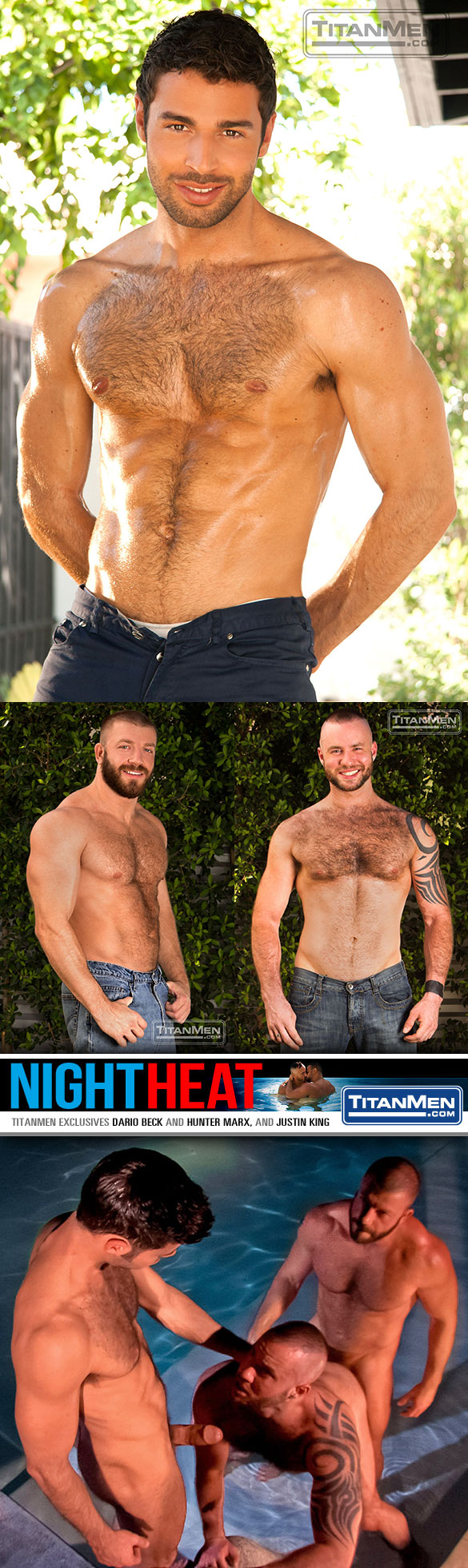"TitanMen: Dario Beck, Hunter Marx and Justin King in ""Night Heat"""