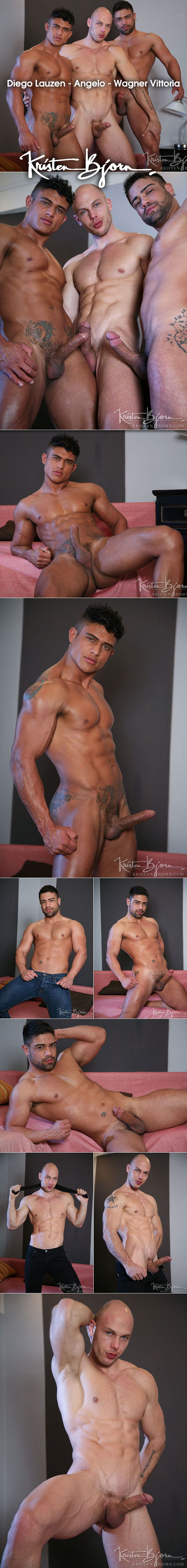"KristenBjorn: Wagner Vittoria, Diego Lauzen and Angelo's hot threeway in ""Strangers in Prague"""