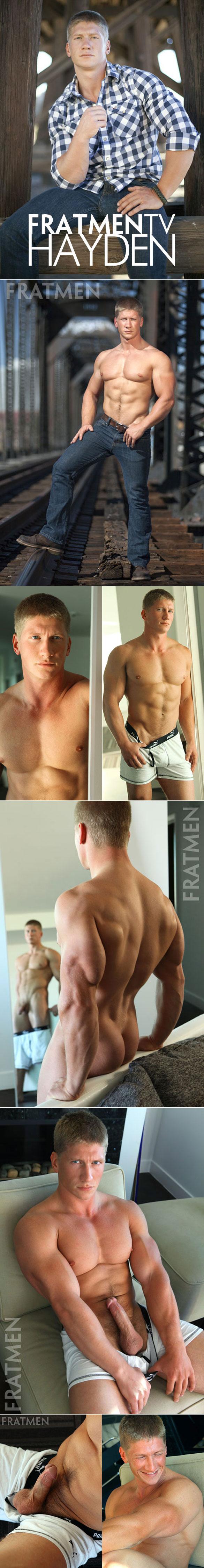 Fratmen.tv: Muscle stud Hayden