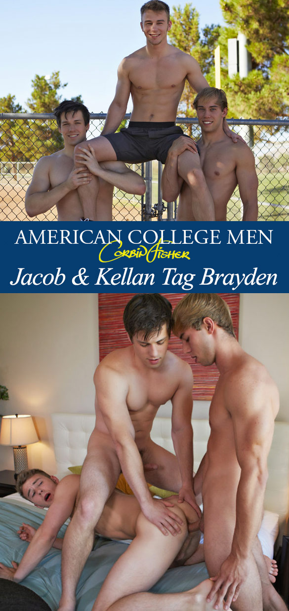 Corbin Fisher: Brayden gets fucked raw by Jacob and Kellan