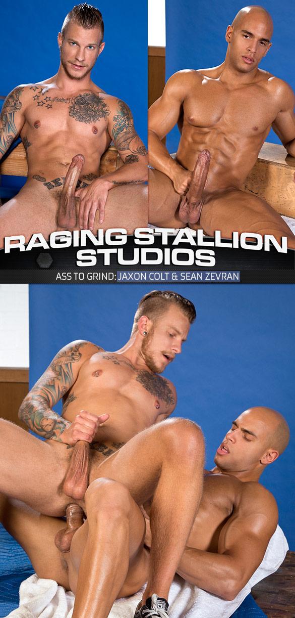 """Raging Stallion: Sean Zevran bangs Jaxon Colt in """"Ass To Grind"""""""