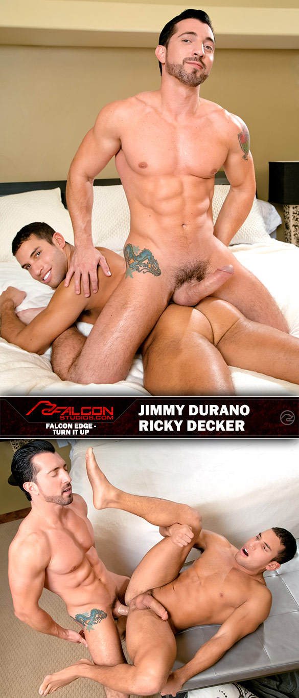 "Falcon Studios: Jimmy Durano bangs Ricky Decker in ""Turn It Up"""