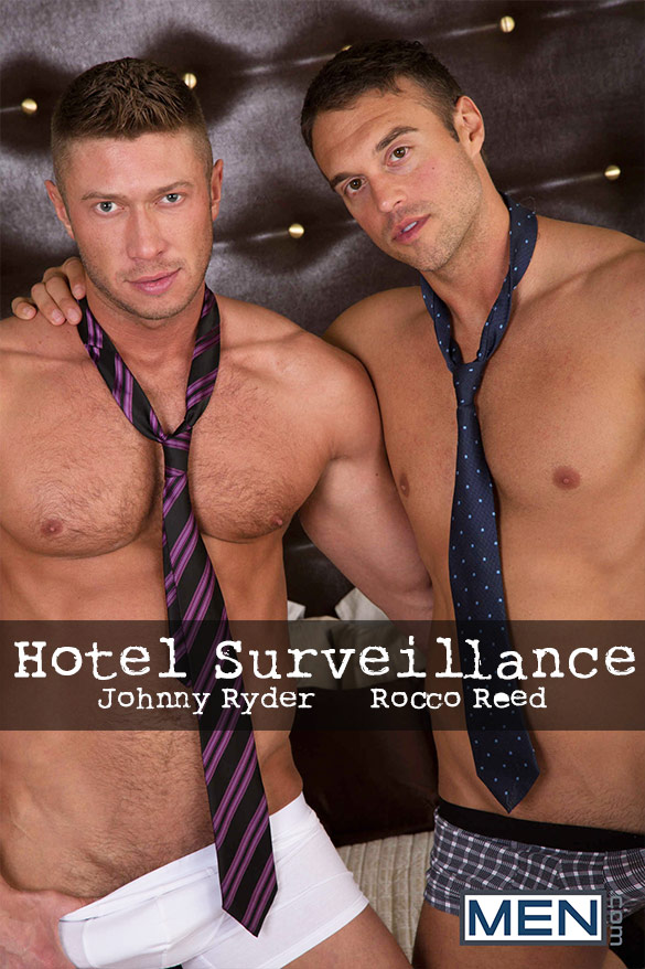 "Men.com: Rocco Reed bangs Johnny Ryder in ""Hotel Surveillance"""