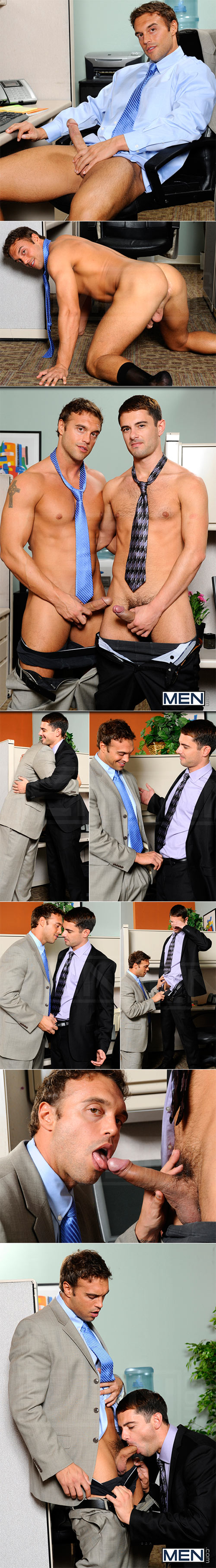 "Men.com: Donny Wright fucks Rocco Reed in ""Last Day On The Job"""
