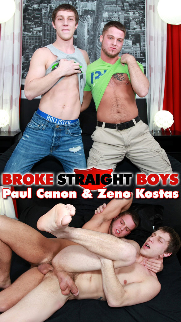 Broke Straight Boys: Zeno Kostas barebacks Paul Canon