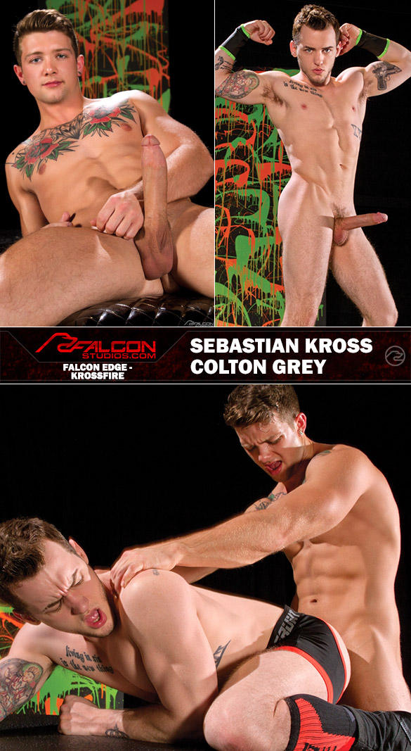 "Falcon Studios: Sebastian Kross pounds Colton Grey in ""Krossfire"""