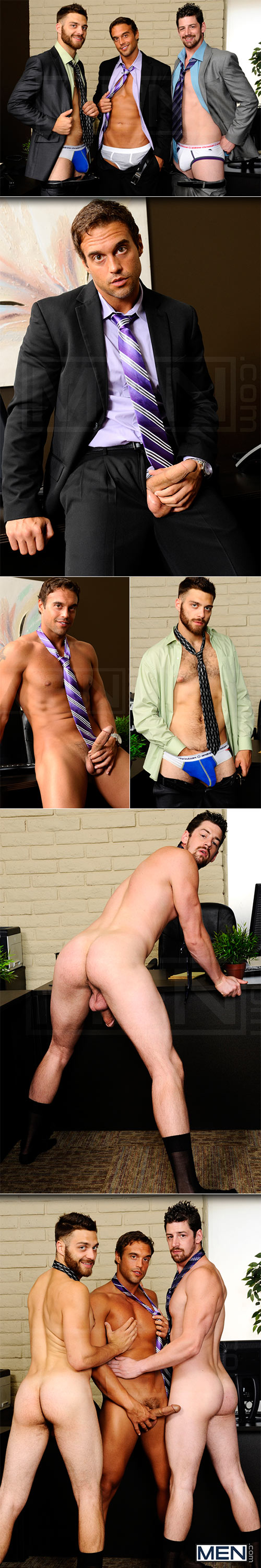 "Men.com: Rocco Reed, Andrew Stark and Tommy Defendi's hot threeway in ""The Promotion"""