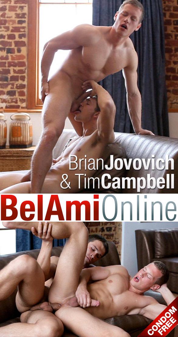 BelAmi: Tim Campbell fucks Brian Jovovich bareback