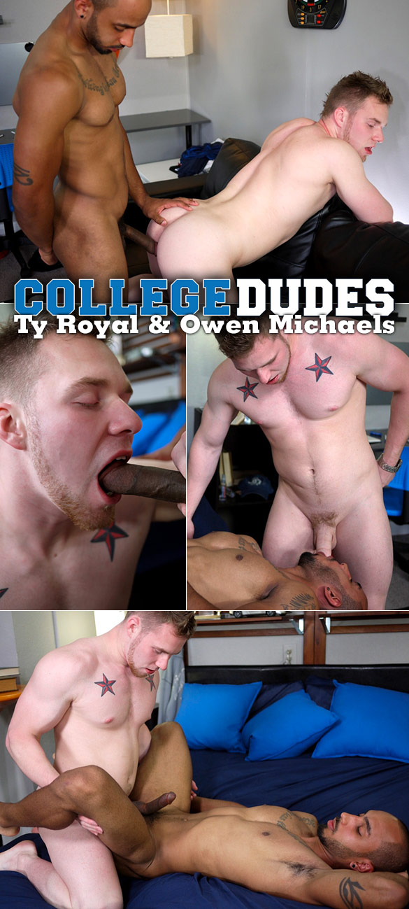 CollegeDudes: Ty Royal and Owen Michaels' hot flip-fuck