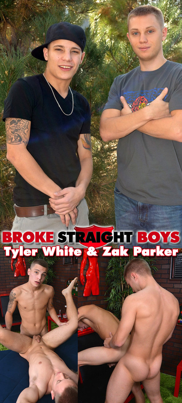 Broke Straight Boys: Zak Parker and Tyler White flip fuck raw