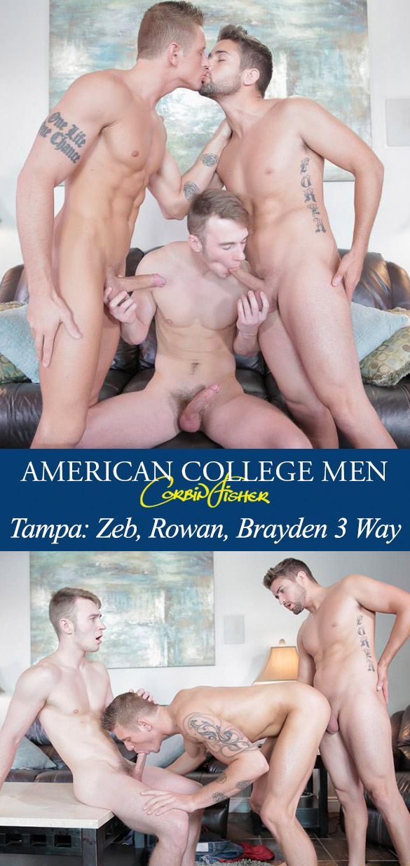 Corbin Fisher: Zeb, Rowan and Brayden's raw threeway