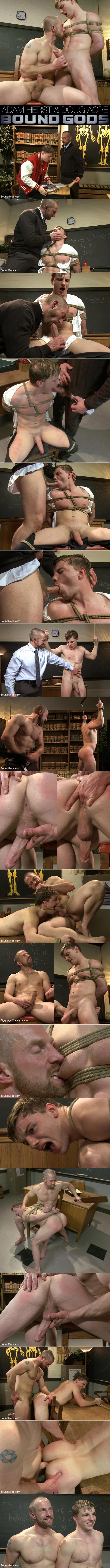 BoundGods: Doug Acre gets bound and fucked by his hot biology teacher Mr. Herst