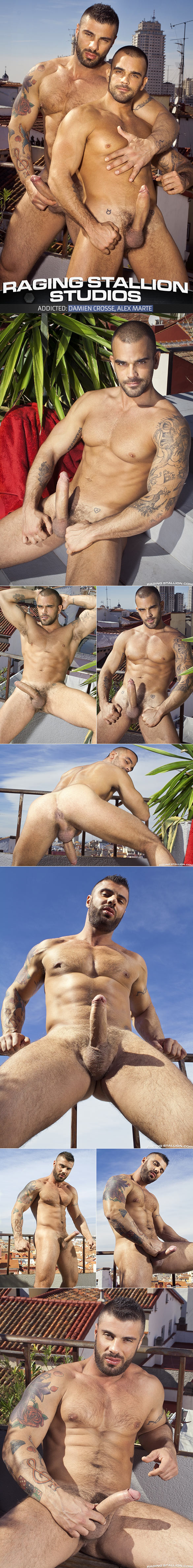 "RagingStallion: Alex Marte and Damien Crosse flip-fuck in ""Addicted"""