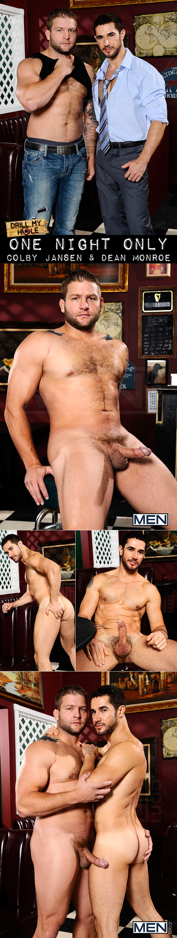 "Men.com: Colby Jansen pounds Dean Monroe in ""One Night Only"""