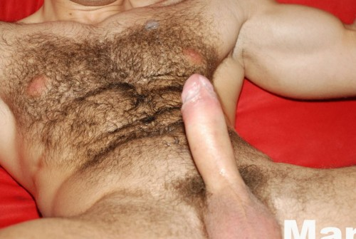 Hairy muscle stud Peter Johnson at ManAvenue.com