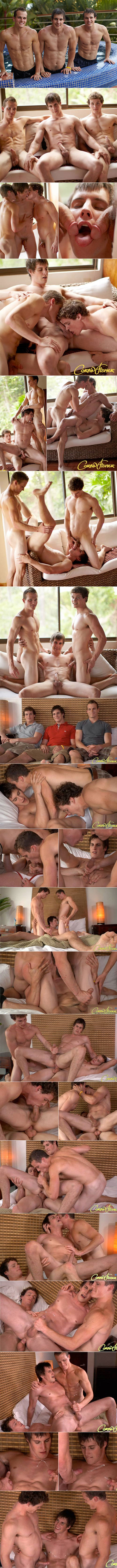 CorbinFisher: The twins Luca and Liam tag Travis