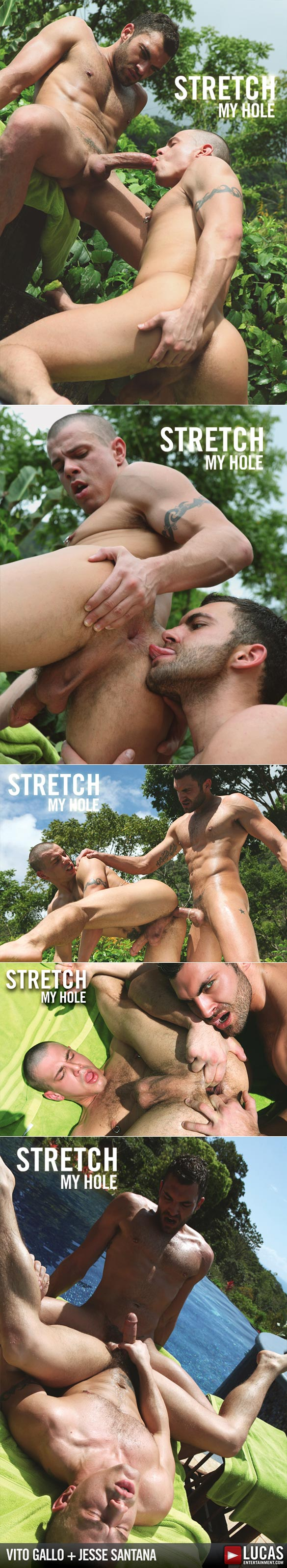 "Lucas Raunch: Vito Gallo stretches Jesse Santana's ass open in ""Stretch My Hole"""