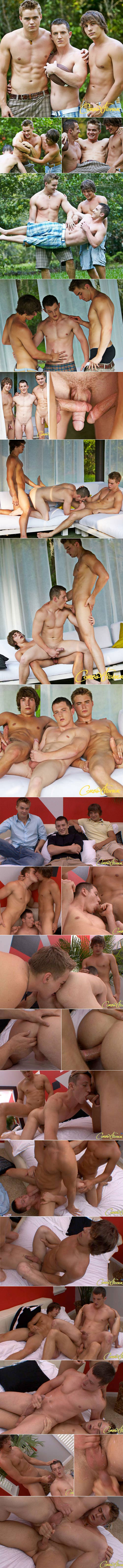 CorbinFisher: Keith gets tag teamed by Elijah and Connor